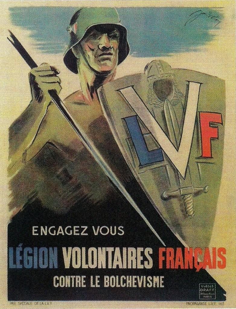 Affiche de Vichy pour les engagements dans la LVF - Jean Breton 1942