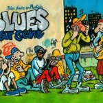 """Afiche pour le Festival """"Blues sur Seine"""" 2001 (novembre 2001)."""