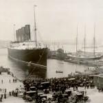 Lusitania à la fin de son voyage inaugural (1907)