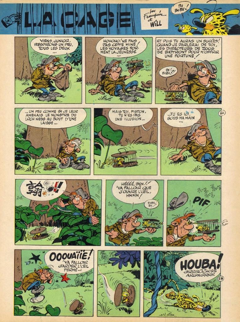 1420 du 1er juillet 1965 Will Franquin la cage 002