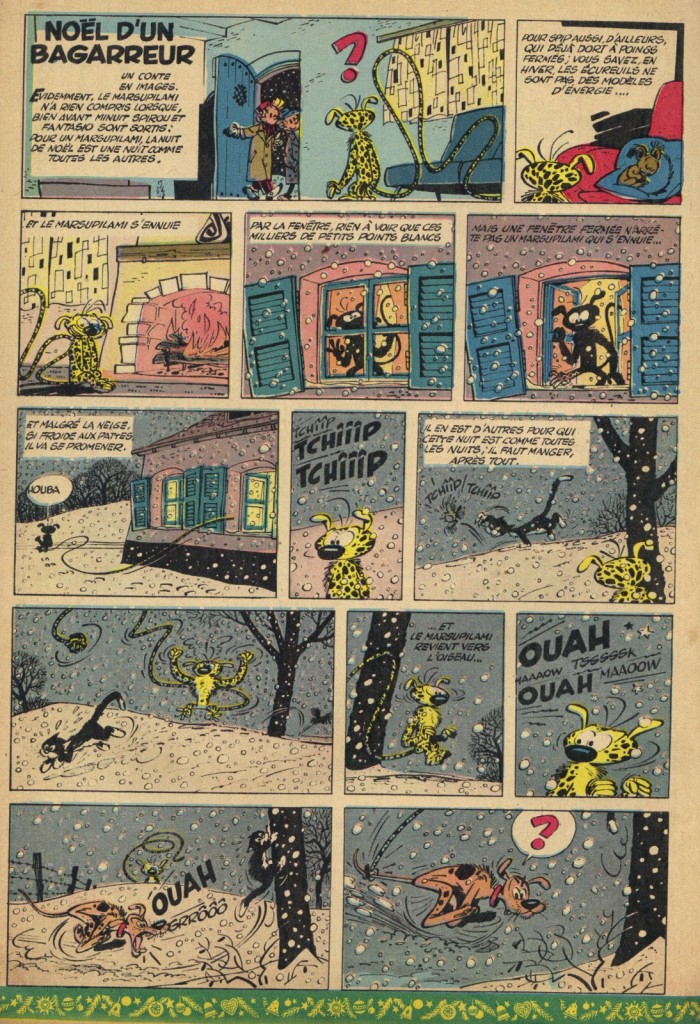 Première page d'une histoire en 2 planches publiée le n° 975 de dans Spirou, le 20 décembre 1956.