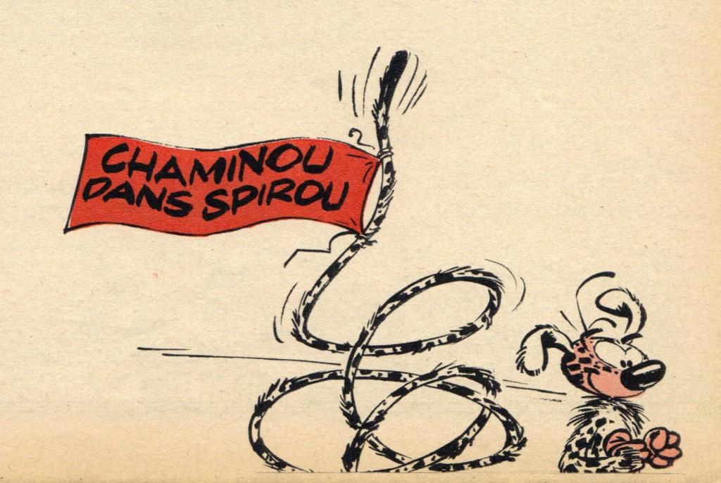 Annonce de l'arrivée du « Chaminou » de Raymond Macherot,  au n° 1352 du 12 mars 1964.