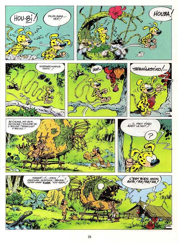 Une page de La Queue du Marsupilami, écrite par Greg et dessinée par Batem.