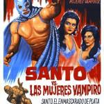 "Affiche pour "" Superman contre les femmes vampires "" (""Santo vs. las mujeres vampiro""), film mexicain d'Alfonso Corona Blake (1962)"