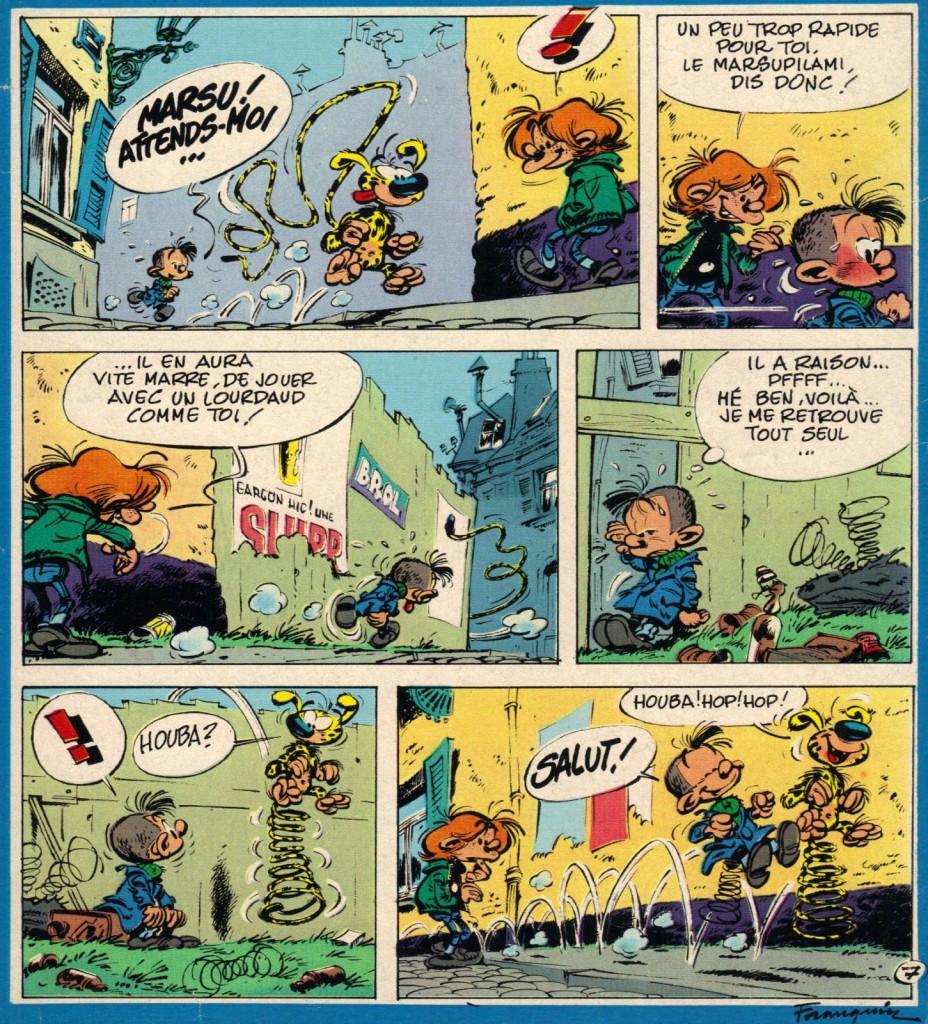 Gag du Marsupilami, paru dans le n° 1692 de Spirou, daté du 17 septembre 1970.