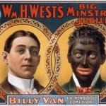 Une affiche de minstrel show.