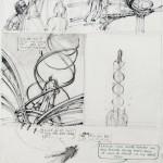 Mine de plomb, feutre et bic, pour la planche n° 7 de Nogegon (1990).