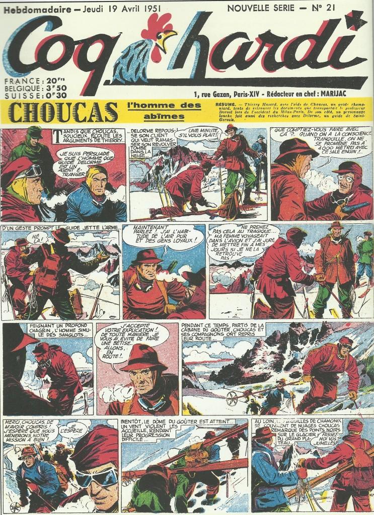 Choucas, l'homme des abîmes en 1951.