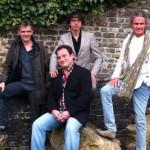 de g. à dr . : Emmanuel Lepage, Bruno Gazzotti, Fabien Vehlmann et Bernard Cosey, lauréats des Prix Diagonale - Le Soir 2013
