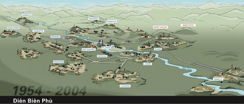 Plan de la zone réalisé en 2004