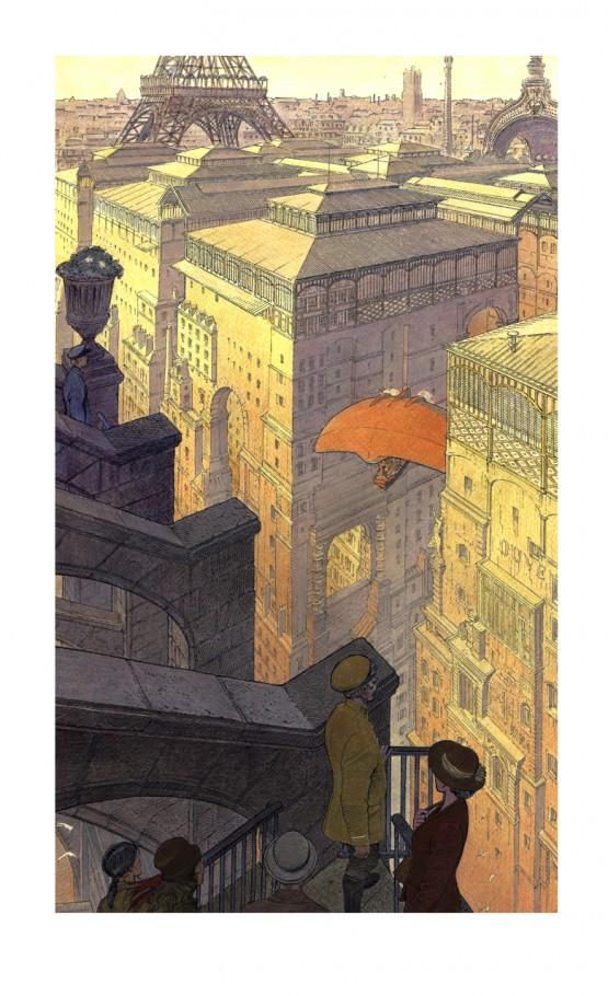 """Affiche édition d'art """"Paris, Les Halles le jour"""""""