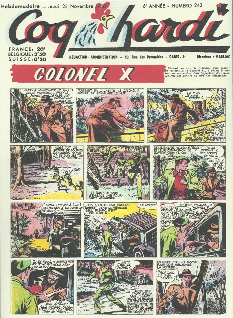 « Colonel X » dans Coq hardi.