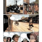 Une page du premier tome de « Carlisle » mise en couleurs.