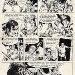 Une planche originale du « Bruno Brazil » de William Vance et Michel Greg.