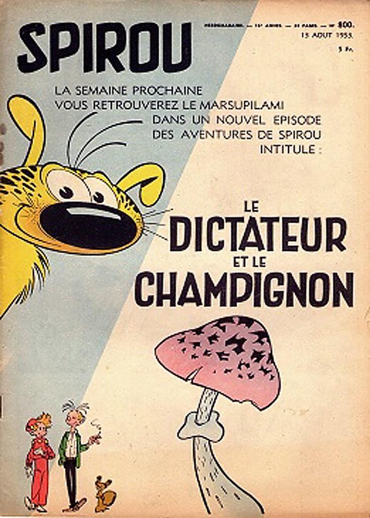 Page annonce et couverture du Journal de Spirou n° 800 du 13 août 1953