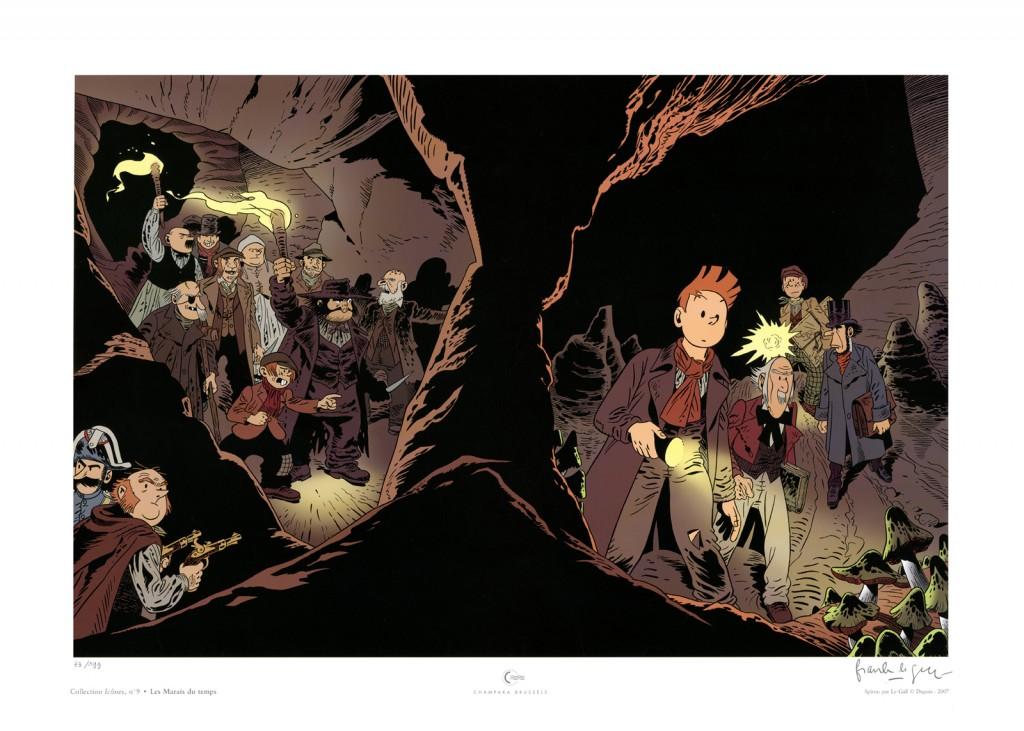 Affiche reprenant le dessin de couverture de l'album Dupuis grand format (Champaka, 2007)