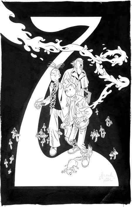 lllustration à l'encre de Chine pour la couverture du tirage de tête des éditions Khani (2007)