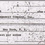Le document signé par Kirby, à l'occasion du prêt pour son déménagement.