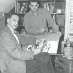 Simon & Kirby, du temps de leur collaboration dans les années 1950.