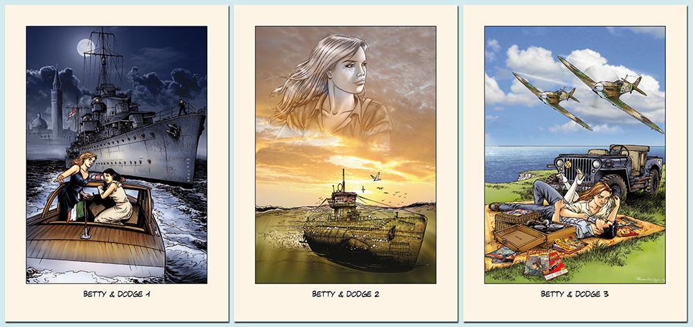 Ex-libris des trois premiers tomes édités par BD Must.