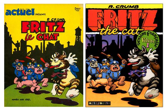 À gauche, le hors-série d'Actuel (1972), à droite, l'album paru chez Anthracite (1995)