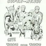 Poster Marvelmania pour des dons pour la Marine.