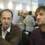 Bertrand Bouton et Cédric Fortier en dédicaces à Angoulême.