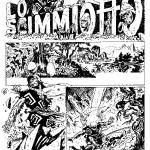 La planche originale de la première page du « Singe » de Milo Manara et Silverio Pisu.