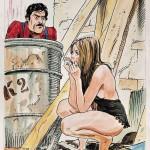 Original peint destiné à la couverture d'un n° de « Il Montatore ».