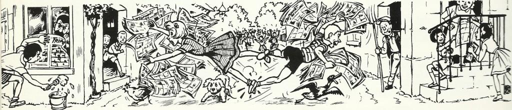 Campagne d'affichage pour le journal dessinée par René Bonnet.