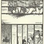 L'une des deux pages publiée dans  le n° 10 de Contro, en mars 1977, reprise dans  le premier « Glamour Book» consacré à Manara.