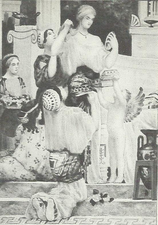 Carreau de faïence décoré par René Bonnet.