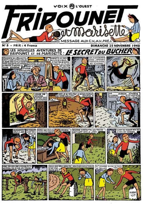 Le premier numéro de Fripounet remis en couleurs par les éditions du Triomphe.