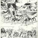 Planche d'essai pour L'Histoire du Far West en bandes dessinées, chez Larousse.