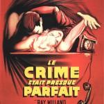 """Affiche française pour """"Le crime était presque parfait"""" (A. Hitchcock, 1954)"""