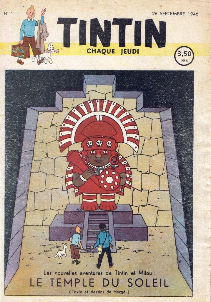Couverture du n° 1 du journal Tintin (26 septembre 1946)