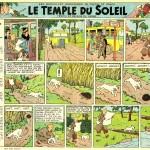 Première planche du Temple du soleil (1946)