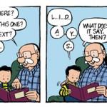 Un strip de « Ben » en anglais et en couleurs.