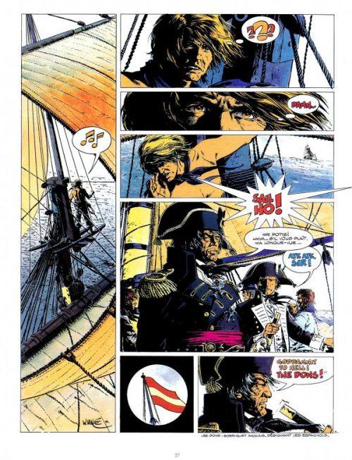 Une page de « Bruce J. Hawker » dessinée par William Vance au Lombard.