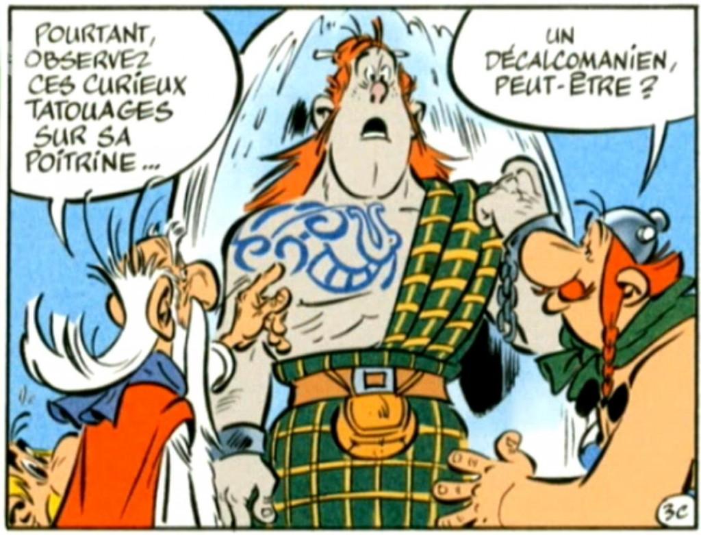 La décou-verte d'un grand glaçon... (extrait de la page 3 par Ferri/Conrad) - copyright rtbf et éditions Albert René