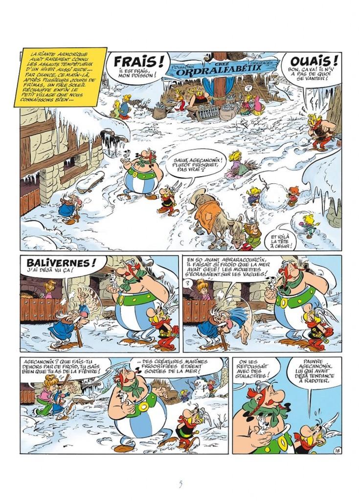 La 1ère planche... (copyright éd. Albert René, Hachette et Ferri/Conrad 2013)