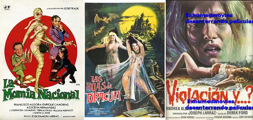 Quelques affiches de films réalisés par Larraz.