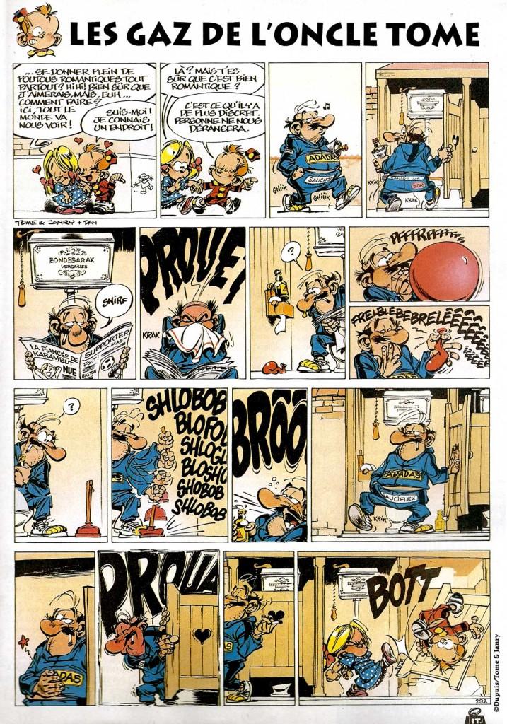 Un gag pétaradant du « Petit Spirou » publié dans le n° 19 de BoDoï, en mai 1999.