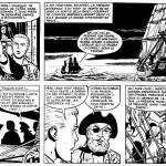 Une page de « Barbe-Rouge » en noir et blanc pour mieux apprécier le style minutieux de Victor Hubinon.