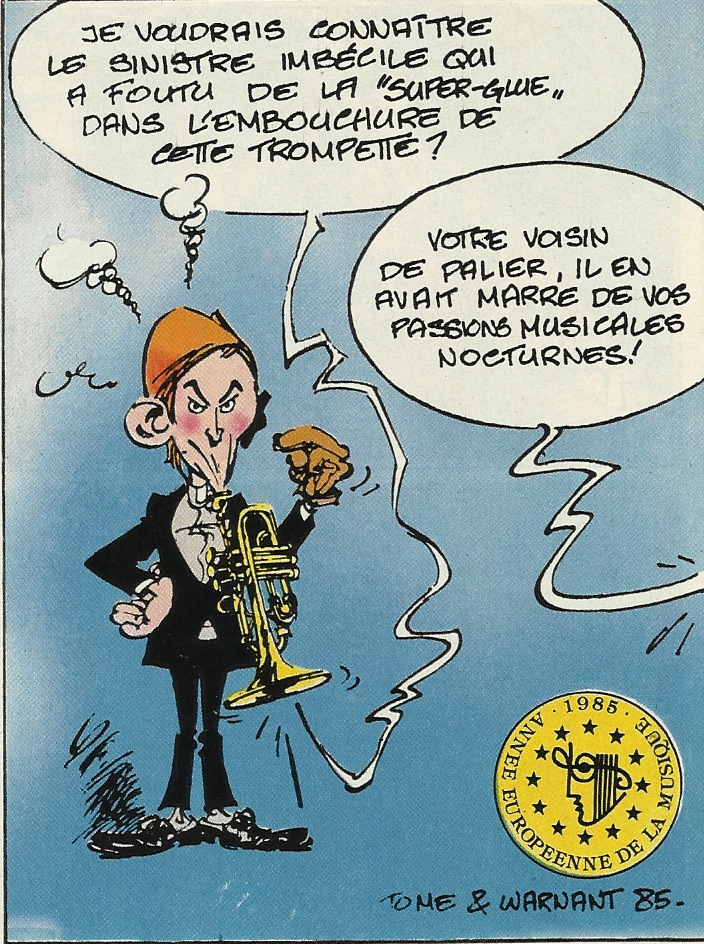 Illustration parue dans Spirou n° 2479 du 15 octobre 1985.