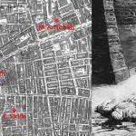 Localisation des 5 meurtres initiaux et illustration d'époque