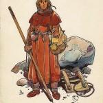 Étude de personnage pour Hughes de Crozenc, faite en 1983, pour «Les Aigles décapitées ».