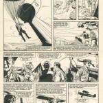 Une page d'un « Oncle Paul » inédit sur Charles Lindberg dessinée par Victor Hubinon.
