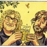 Marc Viilard et J.-C.-Chauzy au dos de couverture de « La Cavale de Lina ».
