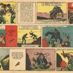 La toute première planche de « Sgt. Kirk » (dans Misterix n°225 du 9 janvier 1953) : un document historique communiqué par Dominique Petitfaux.